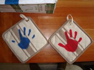 Helping Hands pot holders