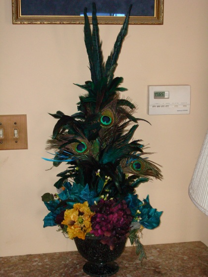 feathered arrangement