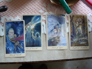 Omens with clarifier using Ghosts and Spirits Tarot