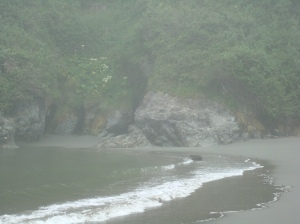 Small cove on Moonstone Beach