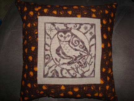 finished the pillow and sent it off to the recipient.