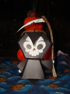 Paper grim reaper made for a friend.