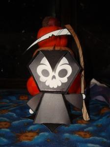 Paper grim reaper made for a friend.