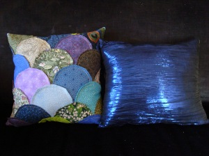 the clamshell quilt pillows for my living room