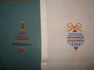 fun to stitch ornaments as they use new-to-me stitches