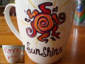 """Before """"firing"""" the mug."""