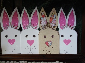 "The cards I made and sent out for ""Santa"" Bunny Day"