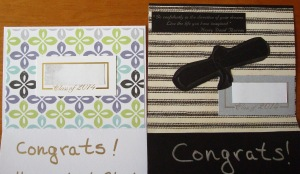 Inside of the graduation cards