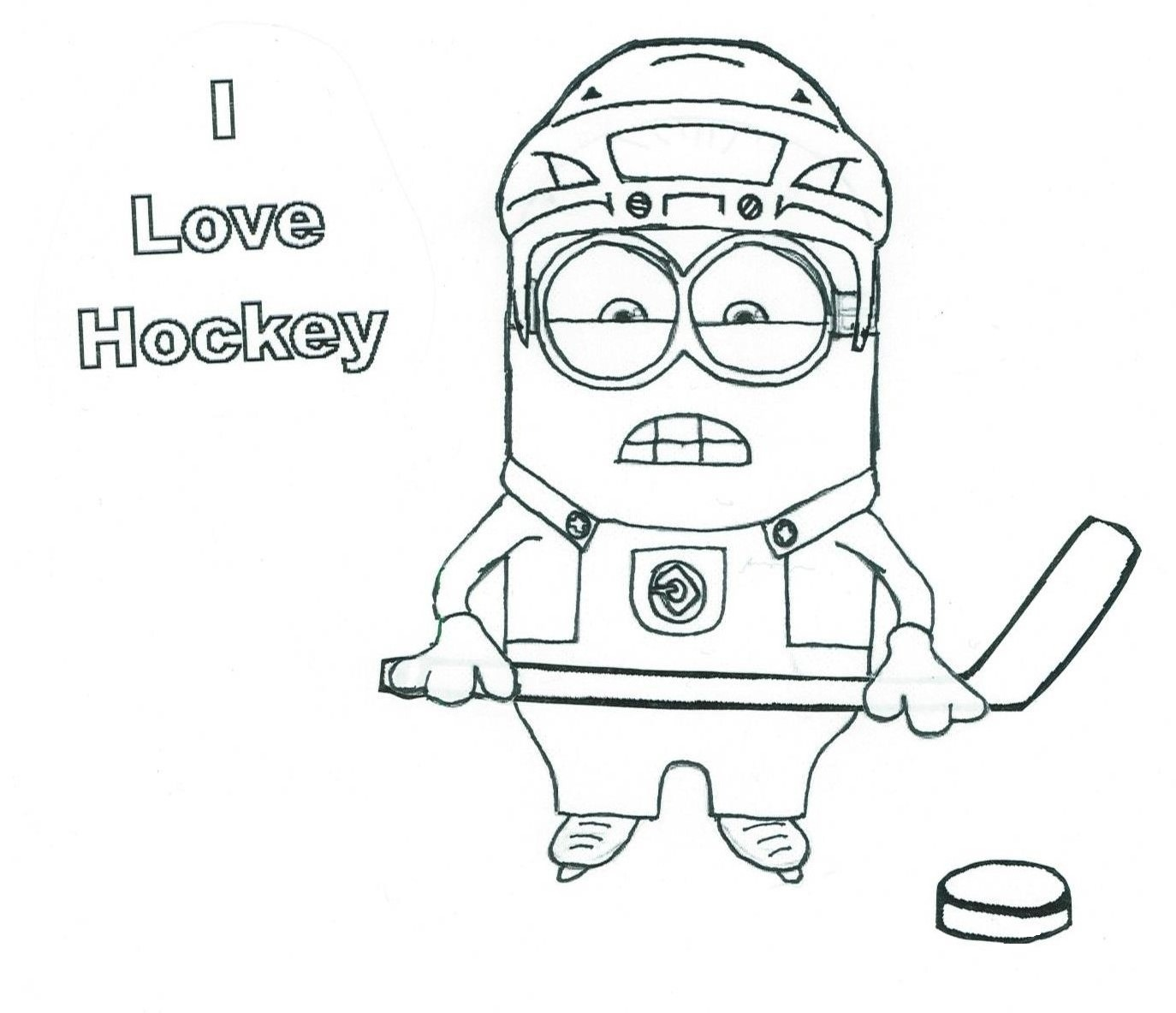Hockey Minion 4 of Wands