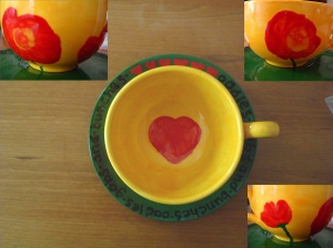 Painted a new mug for my mom as she broke the last one.