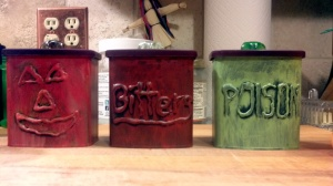 The back of the canisters