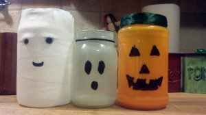 Halloween jars gifted to my heart sister.