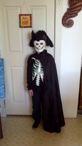 My son, a cursed crew member of the Black Pearl.  He looks awesome.