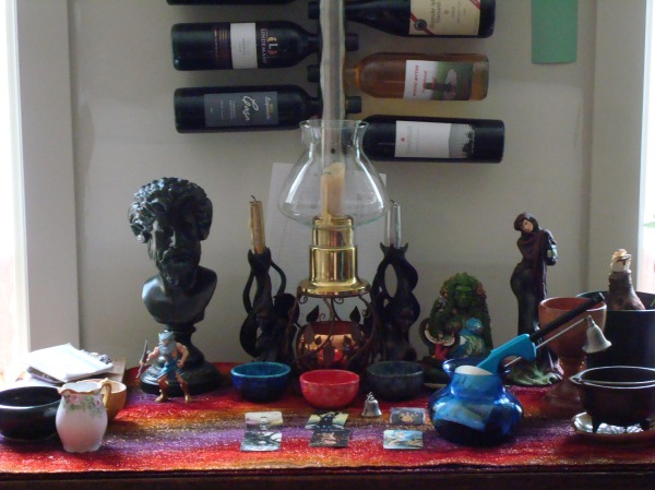 Altar after the ritual
