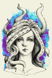 Octopus Medusa by sahdesign